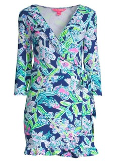 Lilly Pulitzer Jessalynne Floral Romper Wrap Dress