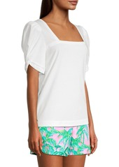 Lilly Pulitzer Jessie Short Puff-Sleeve Top