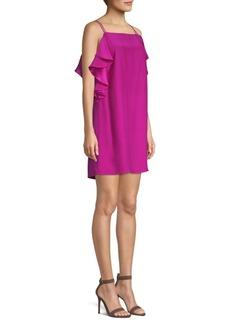 Lilly Pulitzer Kara Silk Cold-Shoulder Mini Dress