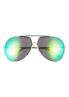 Lilly Pulitzer® 66mm Adelia Oversize Polarized Aviator Sunglasses