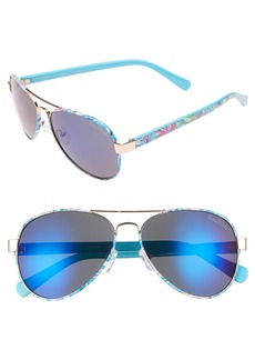 Lilly Pulitzer® Ainsley 59mm Polarized Aviator Sunglasses