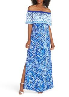 Lilly Pulitzer® Alicia Off the Shoulder Maxi Dress