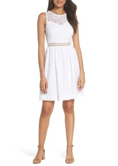 Lilly Pulitzer® Alivia Eyelet Fit & Flare Dress