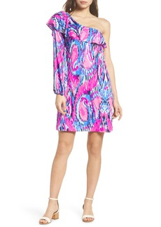 Lilly Pulitzer® Amante One-Shoulder Silk Dress
