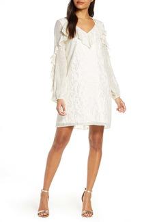 Lilly Pulitzer® Belle Long Sleeve Fil Coupé Silk Dress