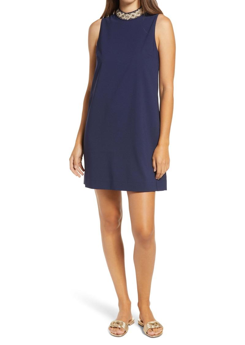 Lilly Pulitzer® Brandi Embellished Mock Neck Shift Dress