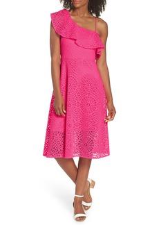 Lilly Pulitzer® Callisto Ruffle One-Shoulder Midi Dress