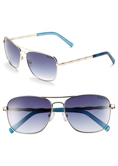 Lilly Pulitzer® 'Cambridge' 59mm Aviator Sunglasses