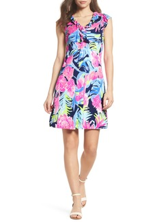 Lilly Pulitzer® Clare Floral Silk A-Line Dress