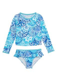 134e638b090e7 Lilly Pulitzer® Cora Two-Piece Rashguard Swimsuit (Toddler Girls, Little  Girls &