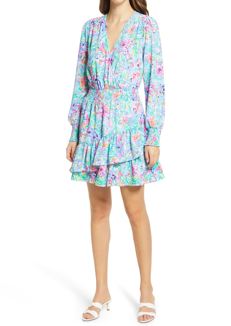 Lilly Pulitzer® Cristiana Long Sleeve Faux Wrap Dress