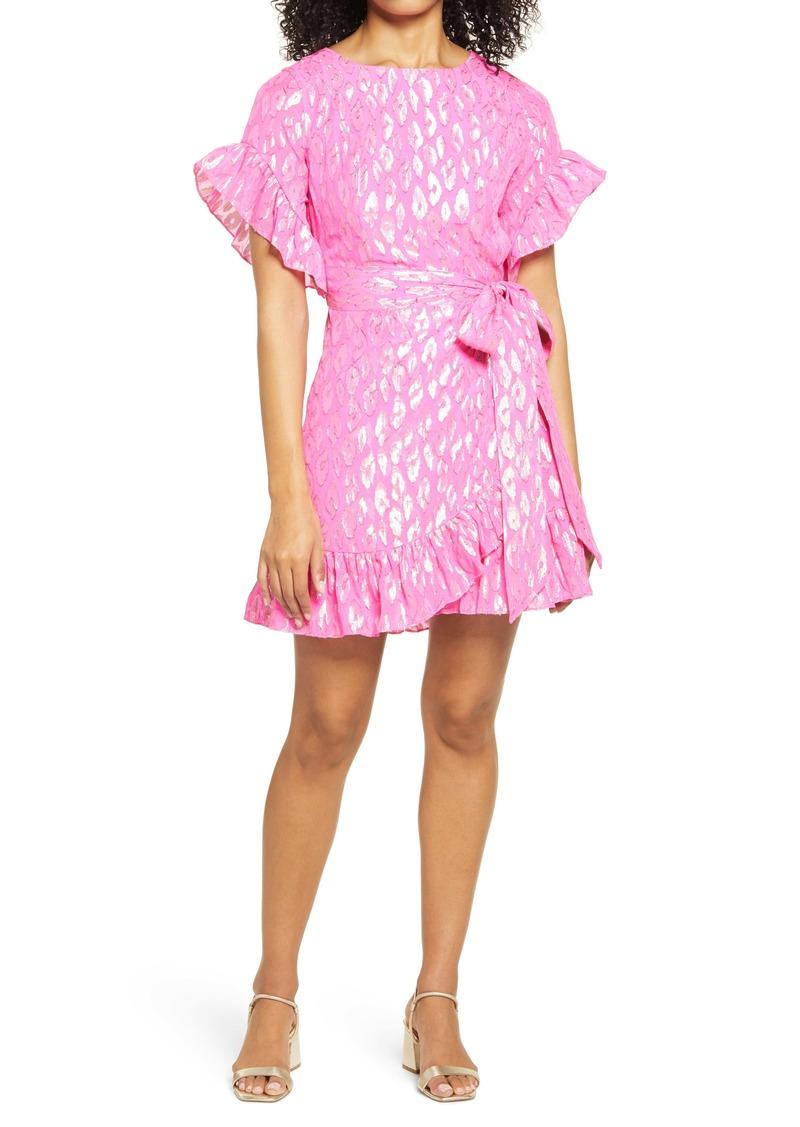 Lilly Pulitzer® Darlah Metallic Leopard Silk Dress
