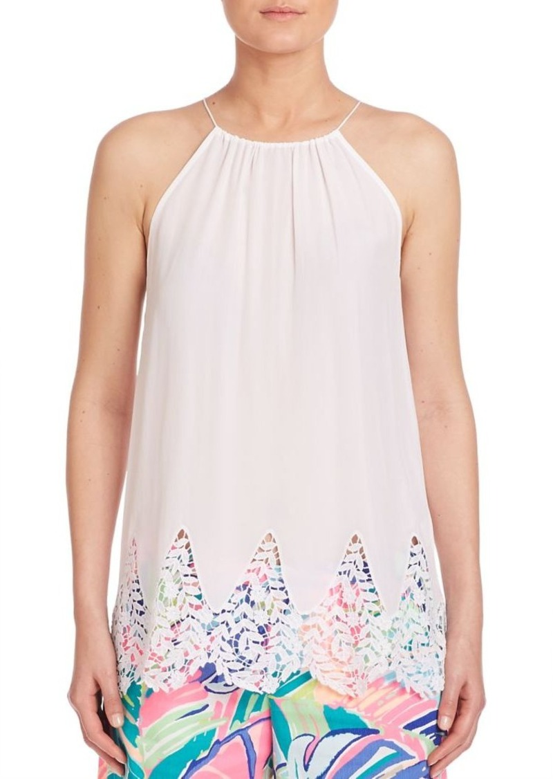 d8e7f5c79ad68a Lilly Pulitzer Lilly Pulitzer Diem Silk Halter Top Now  40.95