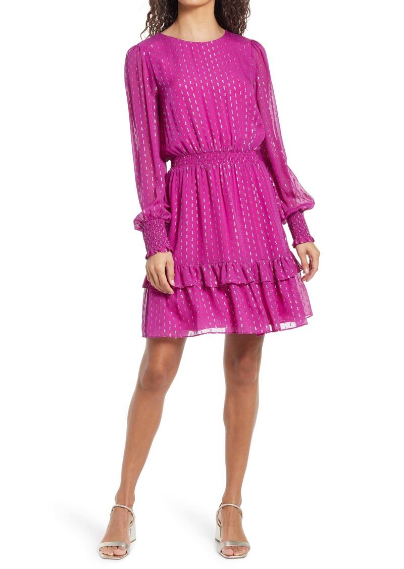 Lilly Pulitzer® Dotti Long Sleeve Silk Dress