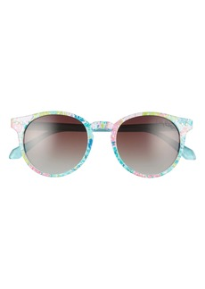Lilly Pulitzer® Elodie 50mm Polarized Round Sunglasses