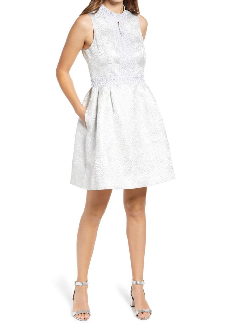 Lilly Pulitzer® Franci Metallic Jacquard Fit & Flare Dress