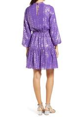 Lilly Pulitzer® Joella Metallic Silk Chiffon Dress