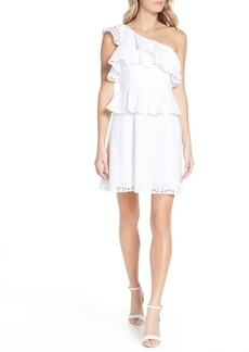 Lilly Pulitzer® Josey Eyelet One-Shoulder Dress
