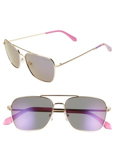 Lilly Pulitzer® Kate 55mm Aviator Sunglasses
