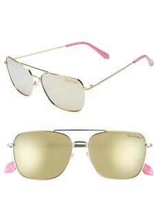 Lilly Pulitzer® Kate 55mm Polarized Aviator Sunglasses