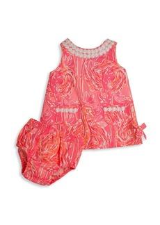 Lilly Pulitzer Kids Baby's Vintage Dobby Flamingo Shift Dress & Bloomers Set
