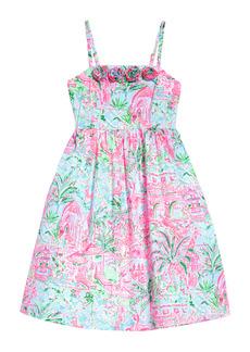 Lilly Pulitzer® Kids' Bellamy Floral Fit & Flare Dress (Toddler, Little Girl & Big Girl)