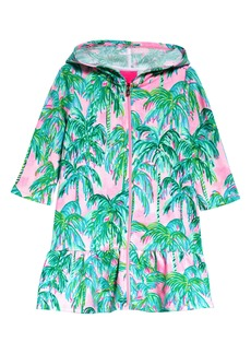 Lilly Pulitzer® Kids' Cooke Hooded Long Sleeve Cover-Up Dress (Toddler, Little Girl & Big Girl)