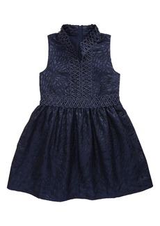 Lilly Pulitzer® Kids' Franci Metallic Jacquard Fit & Flare Dress (Toddler, Little Girl & Big Girl)