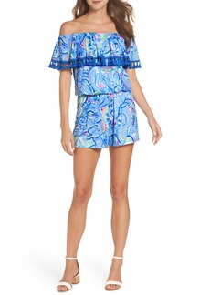 Lilly Pulitzer® La Fortuna Off the Shoulder Romper