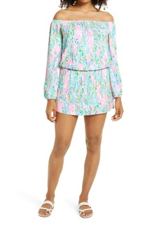 Lilly Pulitzer® Lana Off the Shoulder Long Sleeve Skort Romper