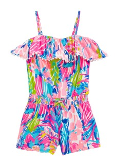 Lilly Pulitzer® Leonie Ruffle Romper (Toddler Girls, Little Girls & Big Girls)