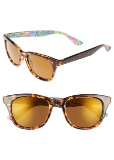 Lilly Pulitzer® Maddie 52mm Polarized Mirrored Sunglasses