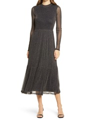 Lilly Pulitzer® Maeva Glitter Onyx Long Sleeve Midi Dress