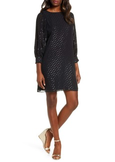 Lilly Pulitzer® Maisel Metallic Clip Dot Silk Dress