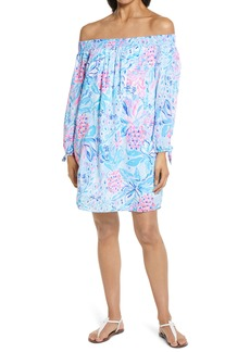 Lilly Pulitzer® Maryellen Floral Off the Shoulder Long Sleeve Dress