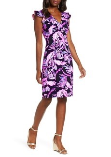 Lilly Pulitzer® Mina Floral Print Ruffle Trim Dress