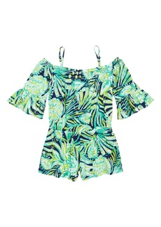 Lilly Pulitzer® Mini Calla Off the Shoulder Romper (Toddler Girls, Little Girls & Big Girls)