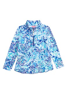 Lilly Pulitzer® Mini Killian UPF 50+ Half Zip Pullover (Toddler Girls, Little Girls & Big Girls)