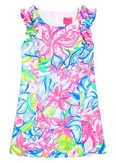 Lilly Pulitzer® Mini Steffi Ruffle Shift Dress (Little Girls & Big Girls)