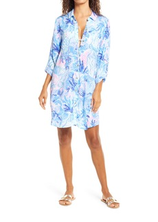 Lilly Pulitzer® Natalie Cover-Up Shirt Dress