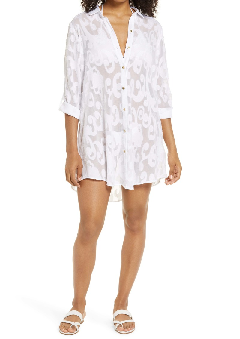 Lilly Pulitzer® Natalie Cover-Up Shirtdress