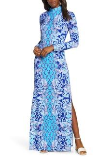 Lilly Pulitzer® Nikia Mock Neck Long Sleeve Maxi Dress