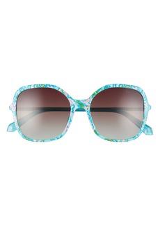 Lilly Pulitzer® Norah 55mm Polarized Square Sunglasses