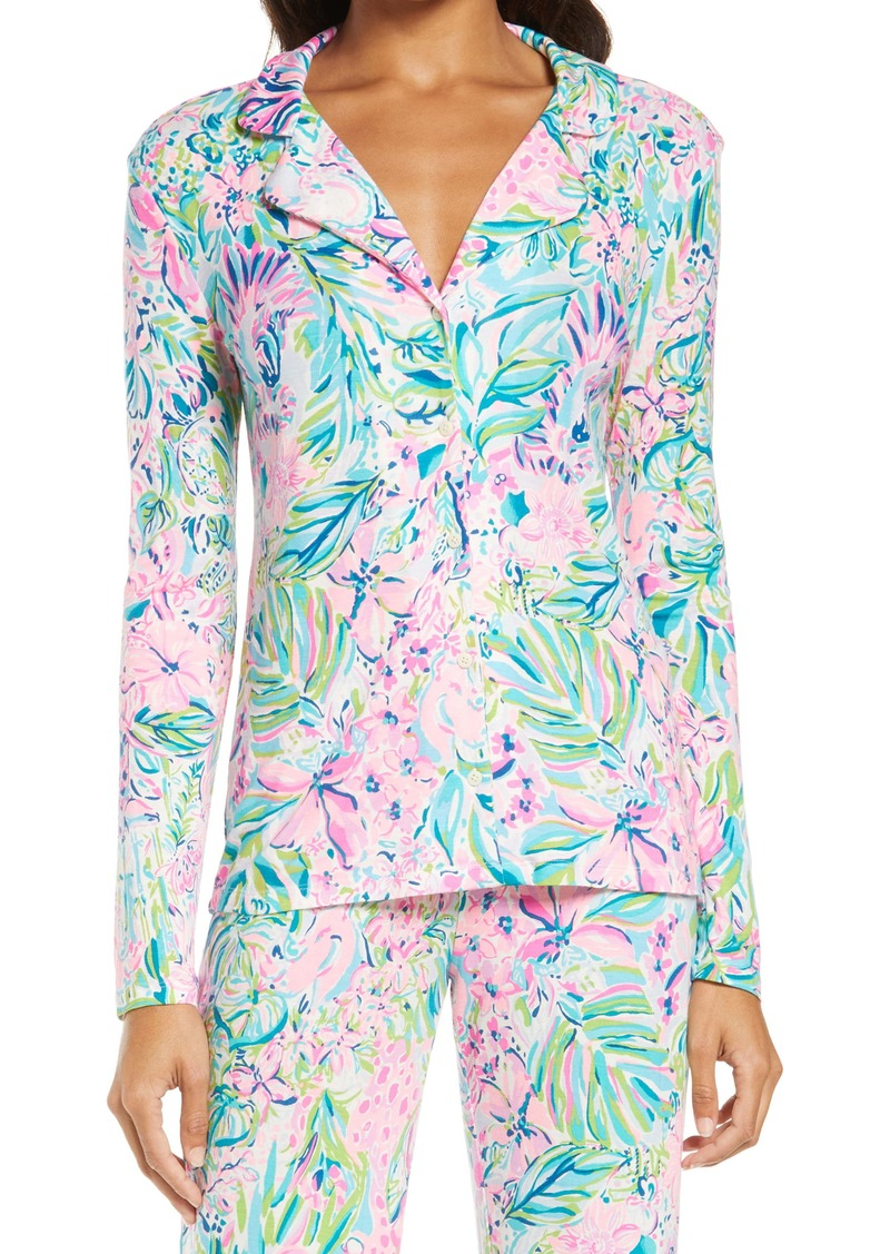 Lilly Pulitzer® Notched Collar Pajama Top