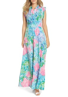 Lilly Pulitzer® Palm Beach Silk Maxi Dress