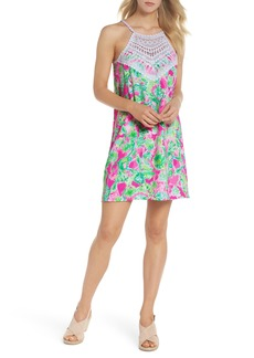 Lilly Pulitzer® Pearl Lace Halter Neck Shift Dress