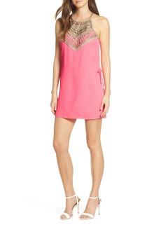 Lilly Pulitzer® Pearl Lace Trim Romper Dress
