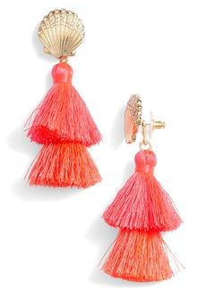 Lilly Pulitzer Shell Yeah Tassel Earrings