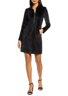Lilly Pulitzer® Skipper Ruffle Long Sleeve Stretch Velvet Shift Dress