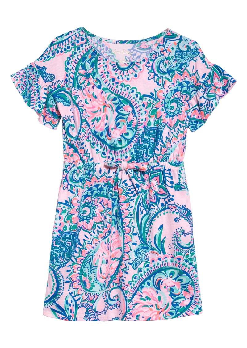 Lilly Pulitzer® Stasia Flutter Sleeve Dress (Toddler Girls, Little Girls & Big Girls)